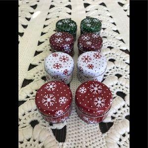 Christmas Tin Votive Candle Holder Bundle